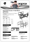 Approx APPST03 flat panel wall mount