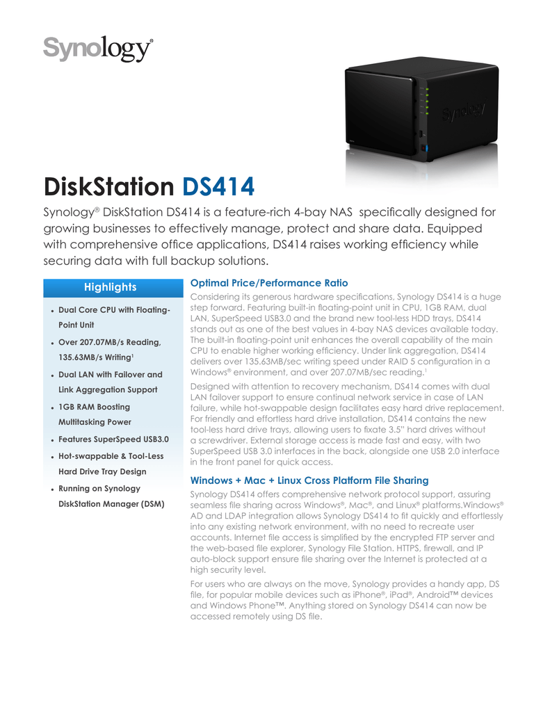 Synology DS414 16TB