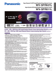 Panasonic WV-SFR611L surveillance camera