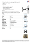 V7 Low Profile Articulating Wall Mount for Displays 10