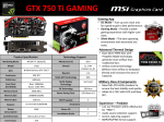 MSI N750TI TF 2GD5/OC NVIDIA GeForce GTX 750 Ti 2GB graphics card