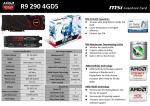 MSI V803-824R AMD Radeon R9 290 4GB graphics card