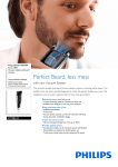 Philips BEARDTRIMMER Series 7000 Vacuum stubble and beard trimmer BT7085/32
