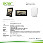 Acer Iconia B1-710-L625 16GB White