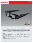 Sharp AN-3DG30 stereoscopic 3D glasses