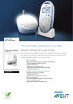Philips AVENT SCD570/01 Advanced monitoring with vibration alert DECT Baby Monitor