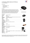 V7 Wireless Mobile Optical LED Mouse
