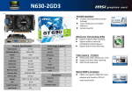 MSI N630-2GD3 NVIDIA GeForce GT 630 2GB graphics card