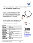 V7 SLK4000-13NB cable lock