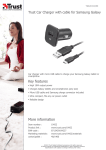 Trust Car Charger with cable for Samsung Galaxy