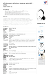 V7 Bluetooth Wireless Headset with NFC - white