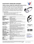 V7 HS-6000-BT-WHT-9NC headphone