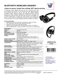 V7 HS-6000-BT-BLK-9NC headphone