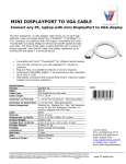 V7 6ft. mini DisplayPort - VGA m/m