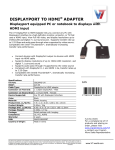 V7 DisplayPort - HDMI m/m