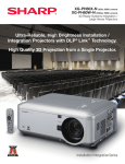 Sharp XG-PH80WN data projector