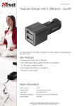 Trust Car Charger with 2 USB ports - 2x12W