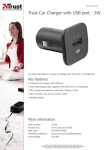 Trust Car Charger with USB port - 5W