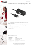 Trust Car Charger with Lightning cable - 5W