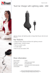 Trust Car Charger with Lightning cable - 10W