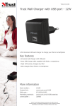 Trust Wall Charger with USB port - 12W