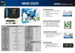 MSI N640-2GD3 NVIDIA GeForce GT 640 2GB graphics card