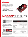 Diamond Multimedia 6670PE51GSB AMD Radeon HD6670 1GB graphics card