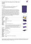 V7 Ultra Slim Folio Stand for iPad mini, purple