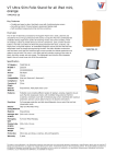 V7 Ultra Slim Folio Stand for iPad mini, orange