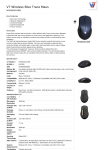 V7 Wireless Blue Trace Maus