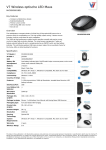 V7 Wireless optische LED Maus