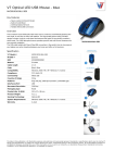 V7 Optical LED USB Mouse - blue