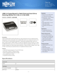 Tripp Lite USB 3.0 SuperSpeed to SatA External Hard Drive Docking Station for 2.5in or 3.5in HDD