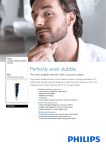 Philips Vacuum stubble and beard trimmer QT4075