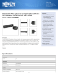 Tripp Lite Detachable PDU option for compatible SmartOnline UPS Systems, L6-30P/L6-20R and L6-30R