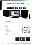 Soundmaster DISC 3220 home audio set