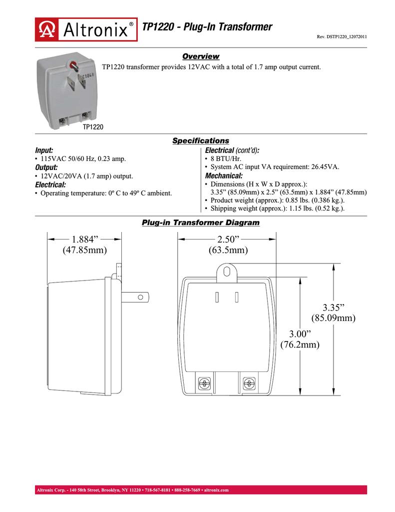 Altronix Tp1220 Relays Wiring Diagrams
