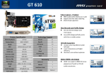 MSI V809-204R NVIDIA GeForce GT 610 1GB graphics card