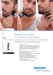 Philips StyleShaver waterproof styler and shaver QS6160