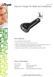 Trust Dual Car Charger for tablet and smartphone