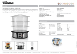 Tristar Food steamer