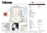 Tristar WK-1328 electrical kettle
