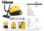 Tristar SR-5239 steam cleaner