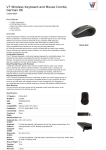 V7 Wireless Keyboard and Mouse Combo, German DE