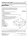 Peerless PLB-1 flat panel ceiling mount