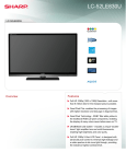 Sharp LC-52LE830U LED TV