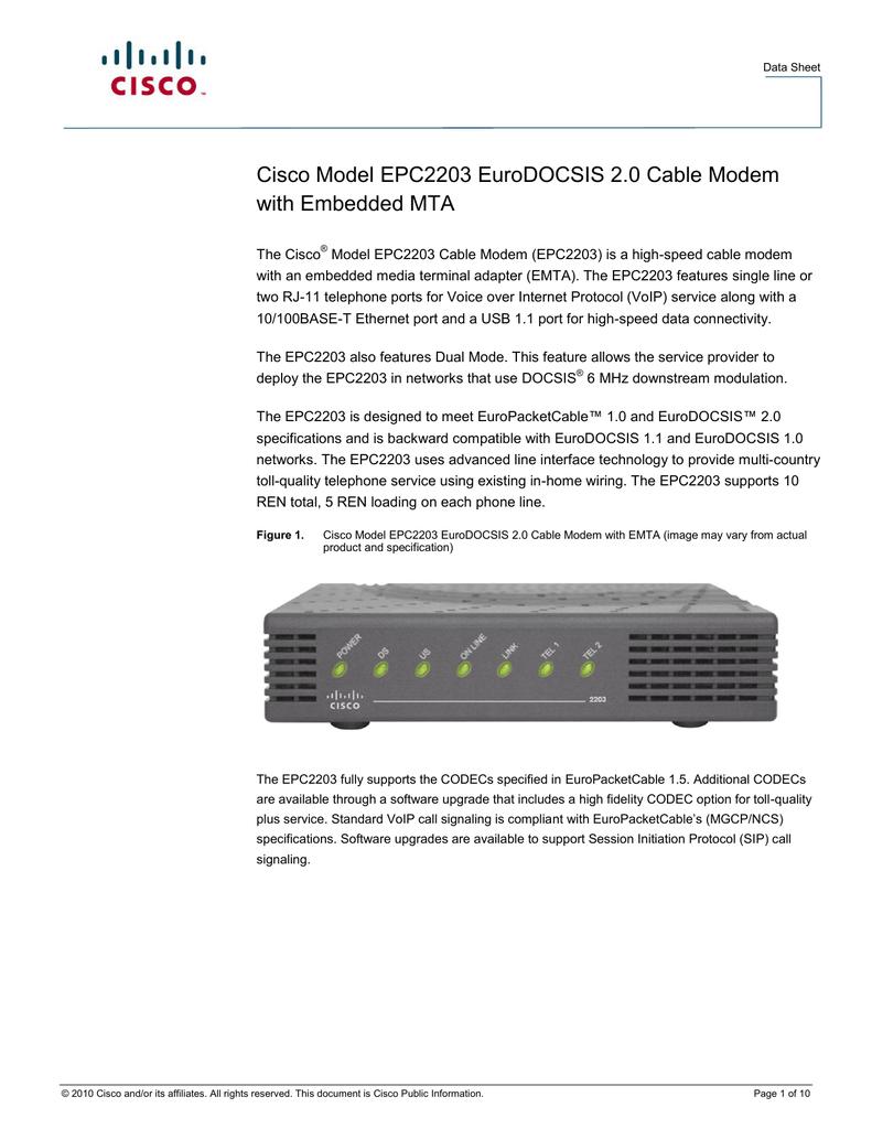 Cisco EPC2203