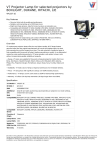 V7 Projector Lamp for selected projectors by BOXLIGHT, DUKANE, HITACHI, LIE