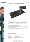 Trust GXT 18 Gaming Keyboard