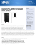 Tripp Lite SmartOnline 20kVA 16kW Modular 3-Phase UPS System, On-line Double-Conversion UPS, SNMP, Webcard, DB9 Serial
